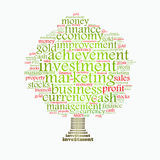 Wealth management tree. Wealth management portfolio info-text graphics and arrangement concept on white background Stock Photography