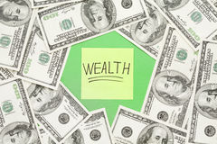 Wealth notation concept Royalty Free Stock Image