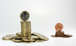 Wealth and poverty Royalty Free Stock Images