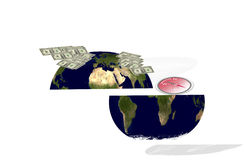 Wealth and poverty world. North rich and South poor royalty free stock image