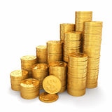 Wealth. Pyramid from gold coins Stock Photography