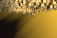 Wealth rich concept idea Golden city at sunset rays Abstract space background.3D illustration rendering.  vector illustration
