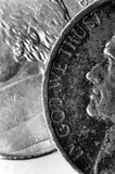 Silver Coins American Money Wealth and Riches royalty free stock image