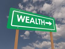 Wealth sign Stock Photo
