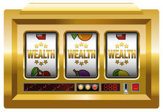 WEALTH SLOT MACHINE Royalty Free Stock Photos