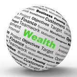 Wealth Sphere Definition Shows Fortune Or Stock Images