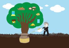 Wealth tree growing Royalty Free Stock Photography
