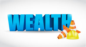 Wealth under construction sign Royalty Free Stock Images