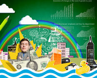 On wealth waves Stock Photo