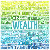 WEALTH word cloud vector illustration