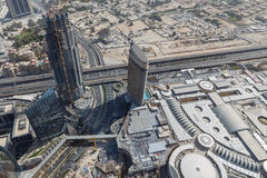 Wealthy Buildings From Above with Wealthy Buildings From Above that near The Burj Khalifa, DubaiThe Burj Khalifa Shadow, Dubai Stock Photography