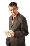 Wealthy businessman Royalty Free Stock Image