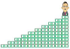 Wealthy businessman illustration Stock Photo