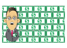 Wealthy businessman illustration Royalty Free Stock Image