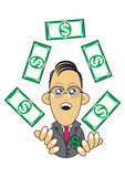 Wealthy businessman illustration Royalty Free Stock Photography