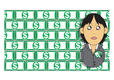 Wealthy businesswoman illustration Royalty Free Stock Photos