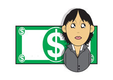 Wealthy businesswoman illustration Royalty Free Stock Images