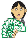 Wealthy businesswoman illustration Royalty Free Stock Photography