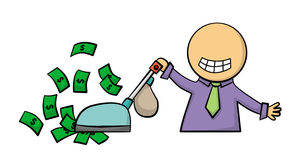 Wealthy cleaning Royalty Free Stock Images
