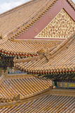 Wealthy decorated roofs of a Chinese Palace Royalty Free Stock Photos