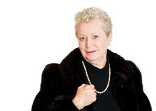 Wealthy older woman Royalty Free Stock Image