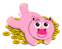 Wealthy pig Royalty Free Stock Images