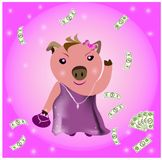 Wealthy Pig Royalty Free Stock Image