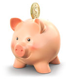 Wealthy piggy bank Stock Images
