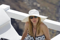 Wealthy woman in greece Stock Photography