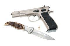 Weapon. Gun isolated on white background Stock Photo