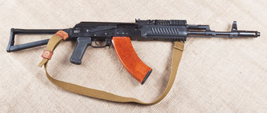Weapon. Assault rifle traditional weapon for terrorist guerrilla Royalty Free Stock Photography