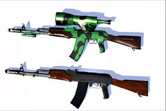 Weapon ak-47. Scene of the russian weapon Royalty Free Stock Photo