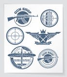 Weapon badges Stock Image