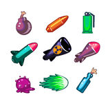 Weapon and Bombs Icons Vector Illustration Set Stock Image