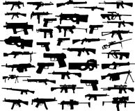 Weapon collection vector illustration