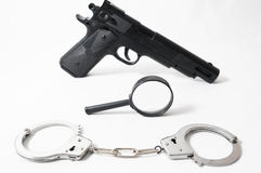 Weapon Crime Concept Gun Stock Photo