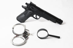 Weapon Crime Concept Gun Stock Image