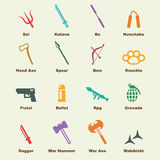 Weapon elements Royalty Free Stock Photography