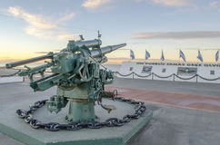 Weapon in falklands Monument in the city of Rio Grande Royalty Free Stock Photos