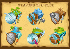 Weapon And Game Landscapes Set Royalty Free Stock Photos