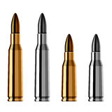 Weapon gun bullet cartridge. Illustration for the web Royalty Free Stock Images