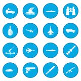 16 weapon icon blue Stock Photography