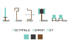 The Weapon Icon Set. Game design Vector Illustration