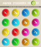 Weapon icon set. Weapon  icons for user interface design Royalty Free Stock Photo