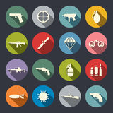 Weapon icon set. Vector illustration Stock Photos
