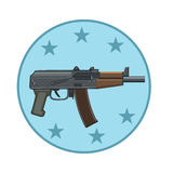 The weapon icon to shoot Stock Image