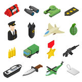 Weapon isometric 3d icons set Stock Photography