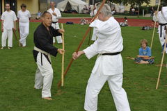 Weapon Karate with Bo (=Stick) Stock Image