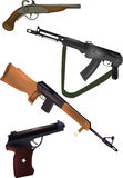 Weapon pistols and fire-arms. Conflict criminal Stock Photography