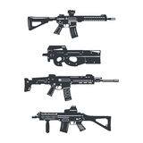 Weapon rifle set2 Stock Images
